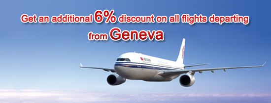 Gets an additional 6% discount on all flights departing from Geneva